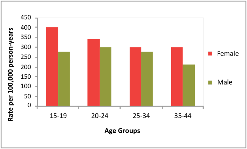 "Figure 1. NC Emergency Department Visits for Medication/Drug Overdoses, Childbearing Years, 2012 Adapted from NC DETECT (2012)<sup><a href=""#_ftn5"" name=""_ftnref5"">[5]</a></sup>"